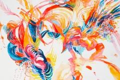 Orange Whirl, 40x50cm
